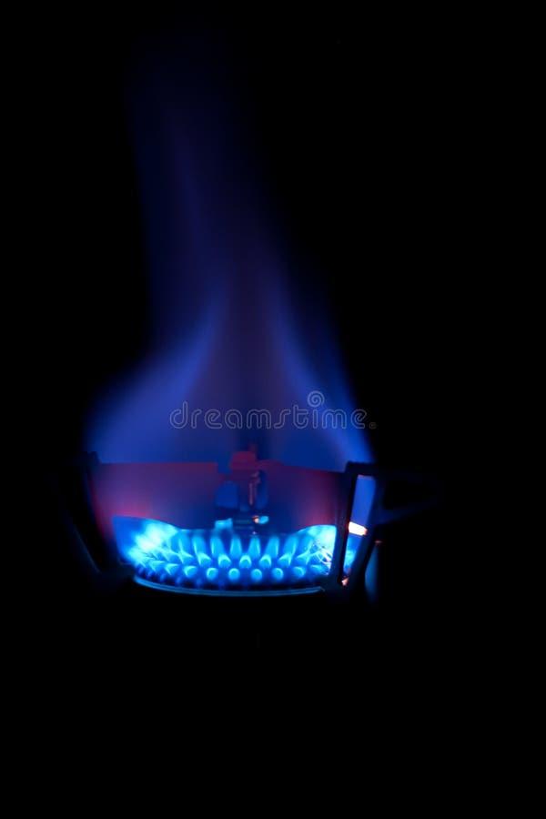 Llama azul foto de archivo