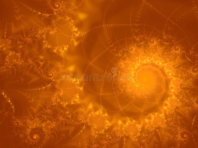Llama del espiral del fractal de la bola de fuego stock de ilustración