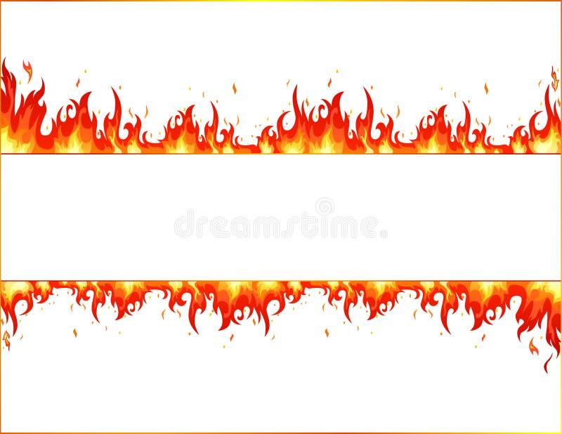 Llama del fuego stock de ilustración