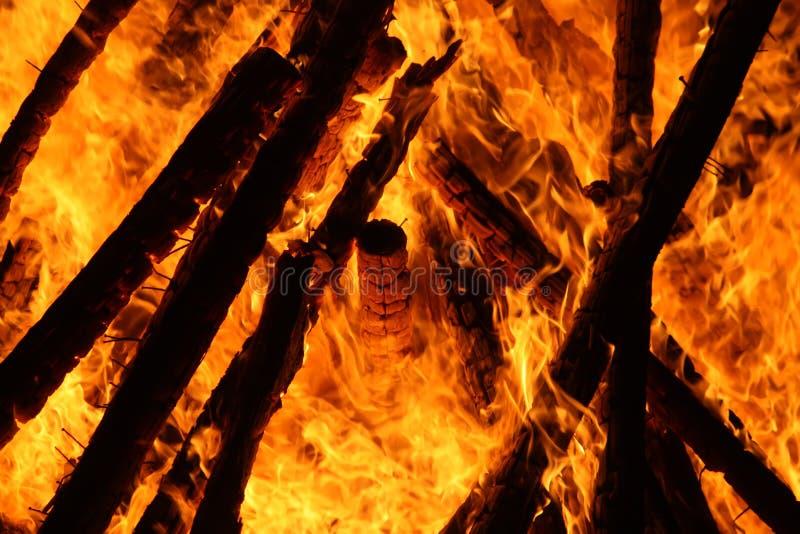 Llama del fuego al aire libre imagen de archivo libre de regalías