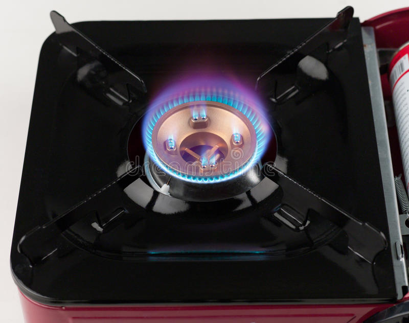 Llama del fuego de la estufa del gast imagen de archivo libre de regalías