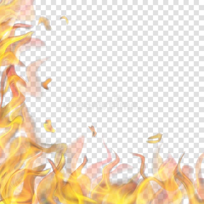 Llama del fuego en izquierda y abajo libre illustration