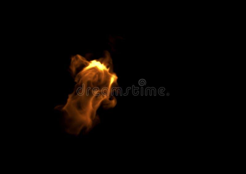 Llama del fuego - representación 3D stock de ilustración
