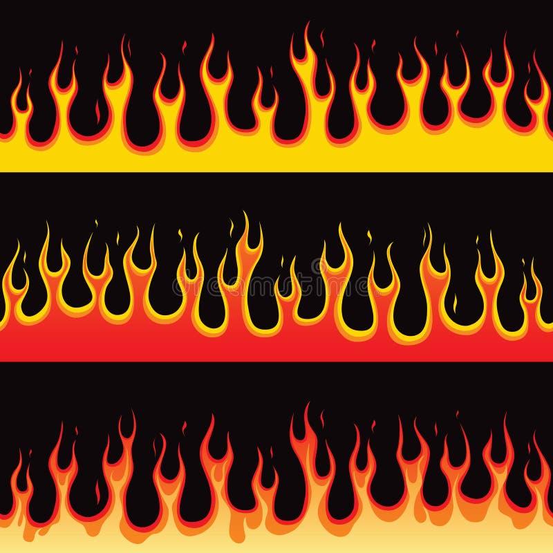 Llama inconsútil del fuego stock de ilustración