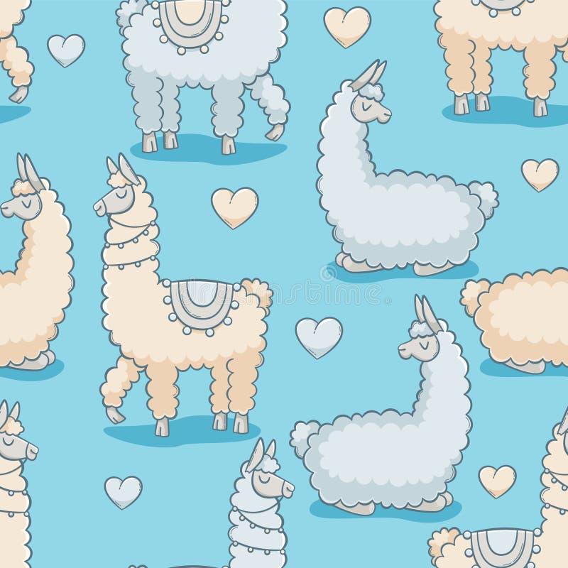 llama stock illustrationer