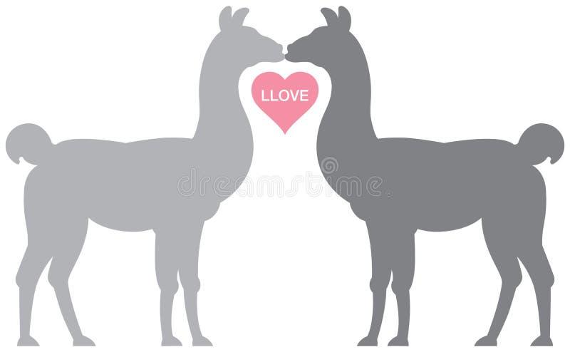 Llama Llove vector illustration