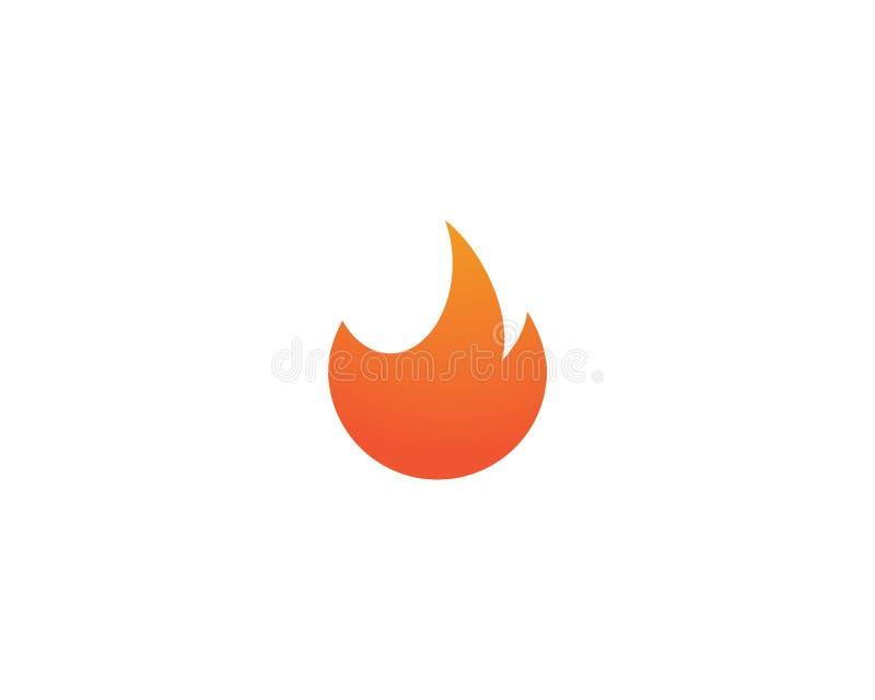 Llama Logo Template del fuego ilustración del vector