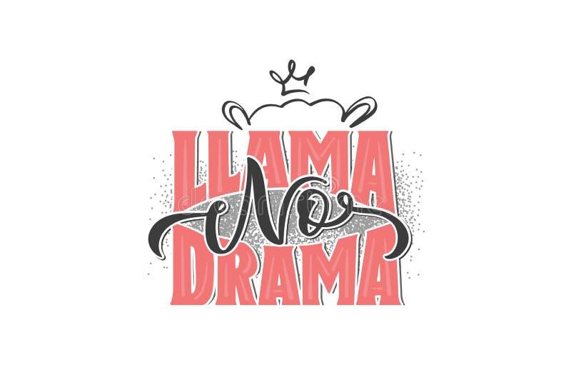 Llama No Drama royalty free illustration