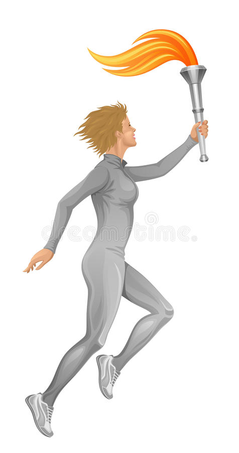 Llama olímpica ilustración del vector
