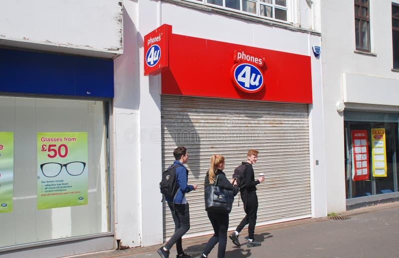 Llama por teléfono 4U al mercado, Hastings imagen de archivo libre de regalías