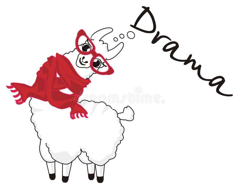 Llama say drama vector illustration