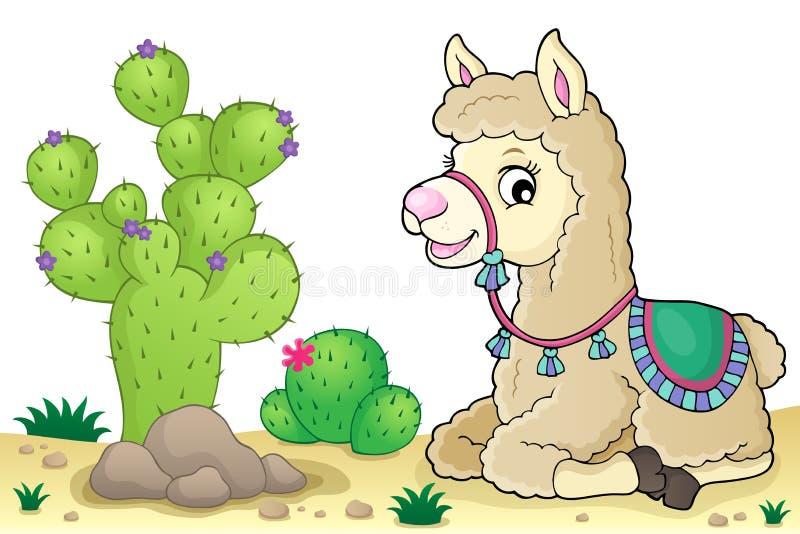 Llama theme image 4 royalty free illustration