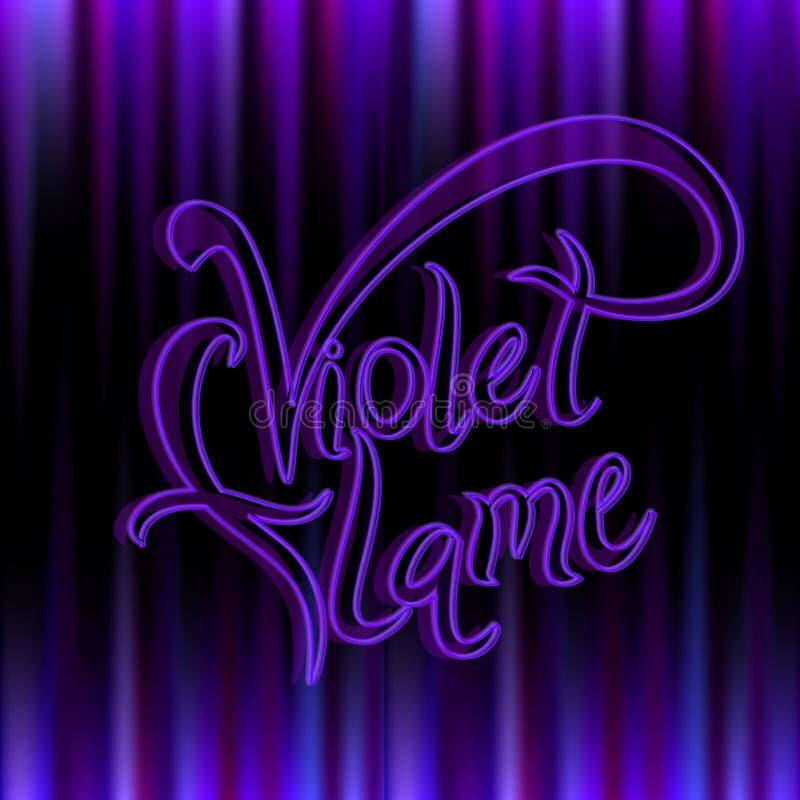 Llama violeta Energía divina transmutación La llama de St Germain Vector stock de ilustración