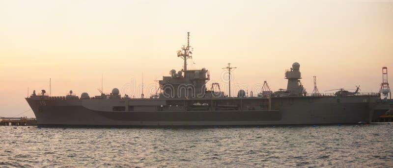 Llamada de cortesía de la marina de guerra de los E.E.U.U. fotos de archivo