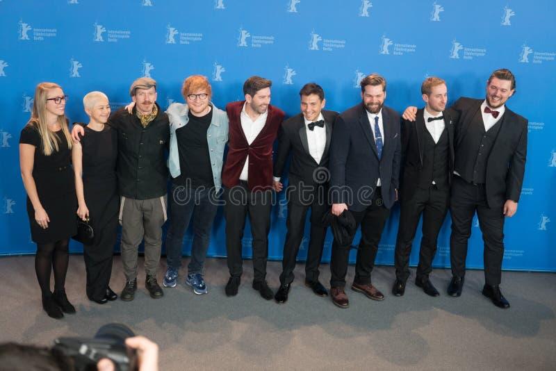 Llamada de la foto del ` del compositor del ` durante el 68.o festival 2018 de Berlinale imagen de archivo