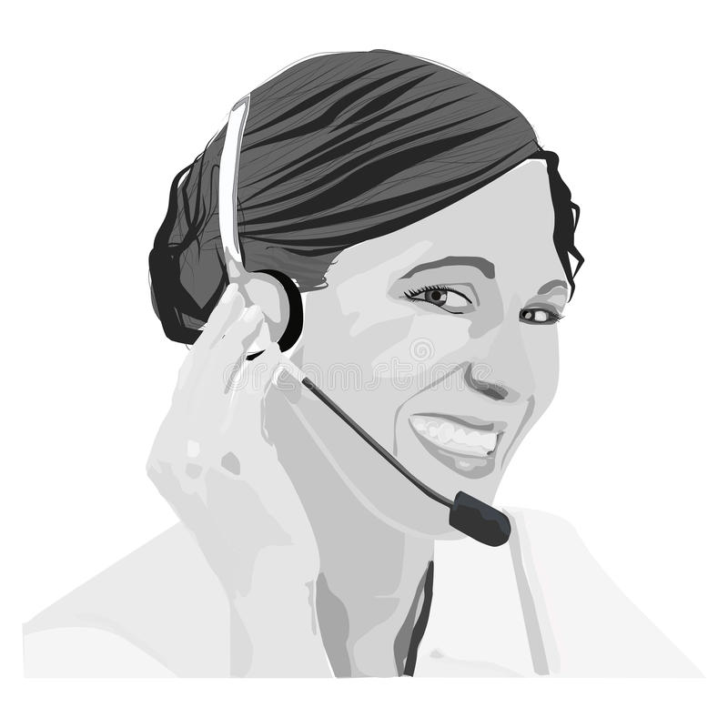 Llamada de la mujer stock de ilustración