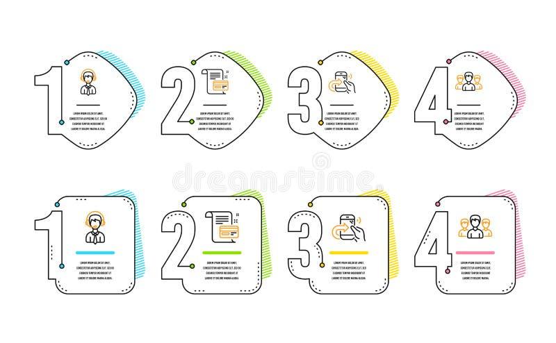 Llamada de la parte, ayuda de envío y sistema de los iconos de la tarjeta del pago Muestra del grupo Vector libre illustration