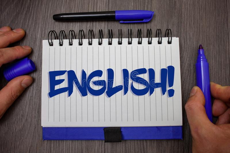 Llamada de motivación inglesa del texto de la escritura de la palabra Concepto del negocio para referente a Inglaterra su gente o fotografía de archivo libre de regalías