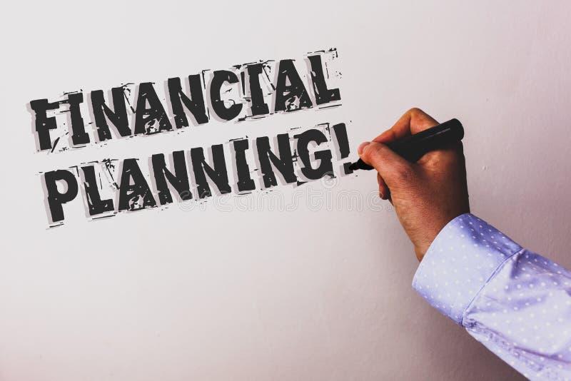 Llamada de motivación de la planificación financiera del texto de la escritura La estrategia del planeamiento de la contabilidad  imágenes de archivo libres de regalías