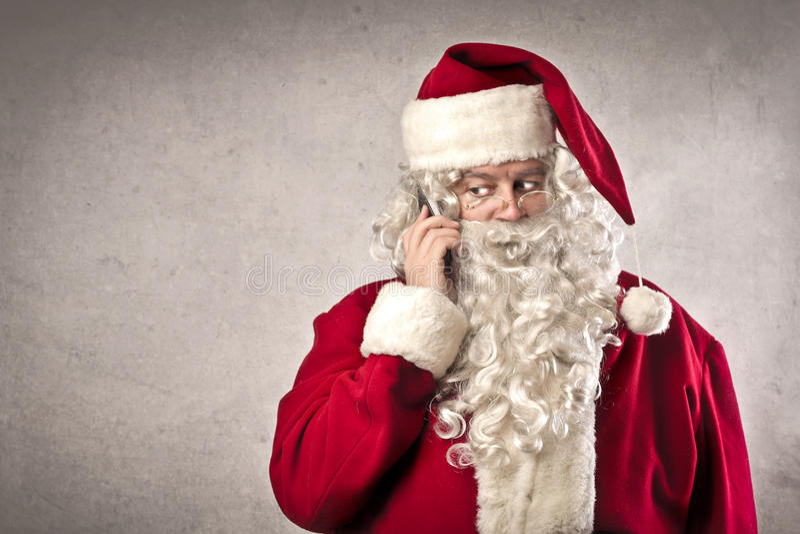 Llamada de Papá Noel imagenes de archivo