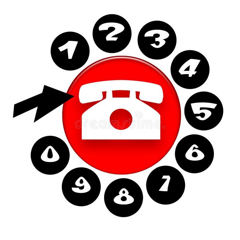 Llamada de Phone stock de ilustración