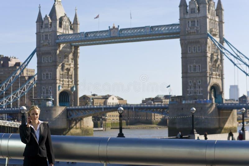 Llamada de teléfono de Londres fotos de archivo