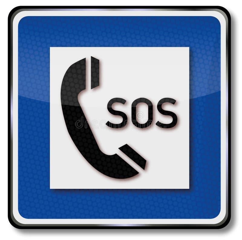 Llamada de teléfono para la ayuda y el SOS libre illustration