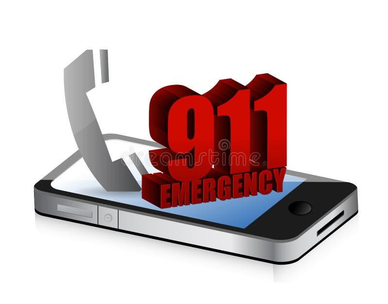 Llamada del smartphone de la emergencia stock de ilustración