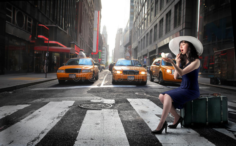 Llamada del taxi imágenes de archivo libres de regalías