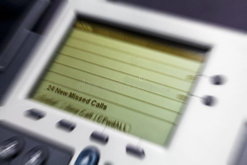 Llamadas faltadas demostración del teléfono de la oficina foto de archivo libre de regalías