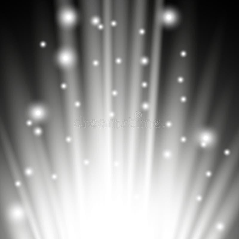 Llamarada ligera de debajo, color blanco stock de ilustración