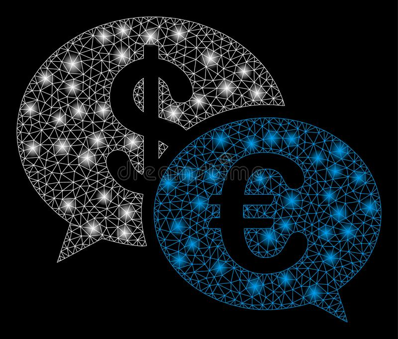 Llamarada Mesh Network Currency Transaction Messages con los puntos de la llamarada libre illustration