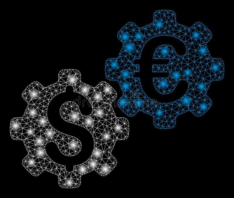 Llamarada Mesh Network Financial Mechanics con los puntos de la llamarada stock de ilustración