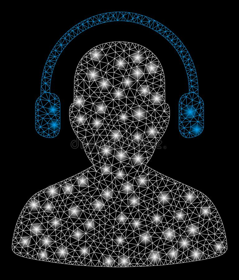 Llamarada Mesh Network Listen Operator con los puntos de la llamarada stock de ilustración