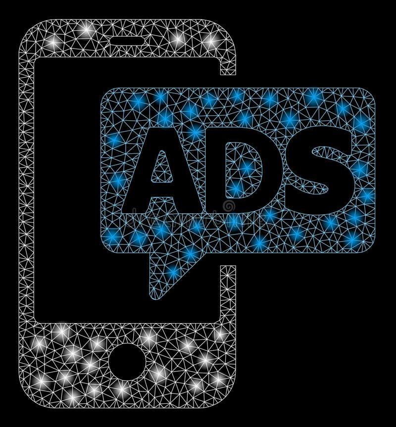 Llamarada Mesh Network Mobile Ads con los puntos de la llamarada libre illustration