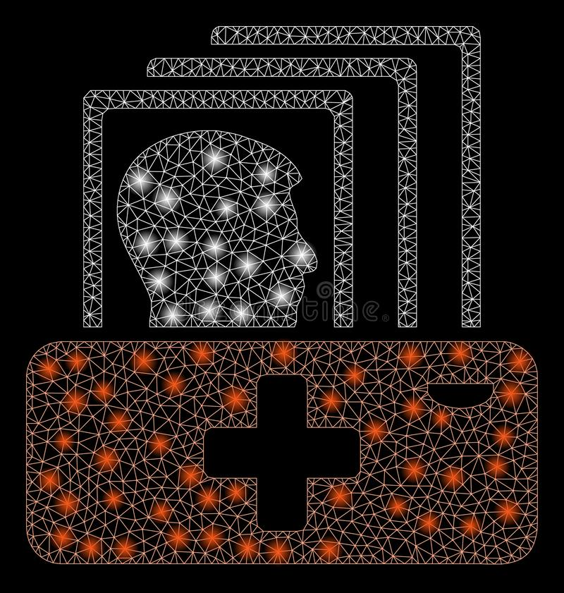 Llamarada Mesh Network Patient Catalog con los puntos de la llamarada libre illustration
