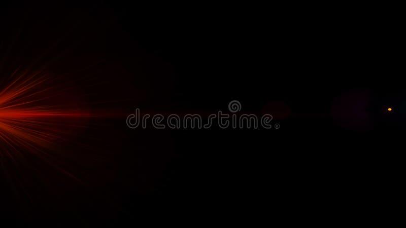 Llamarada real de la lente tirada en estudio sobre fondo negro F?cil a?adir como fotos del filtro de la capa o de pantalla fotografía de archivo libre de regalías