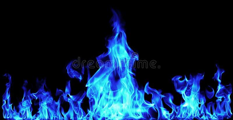 Llamas azules del fuego fotos de archivo libres de regalías