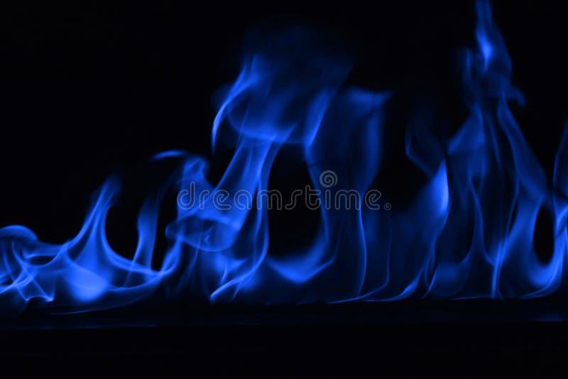 Llamas azules del fuego como backgorund abstracto fotos de archivo libres de regalías