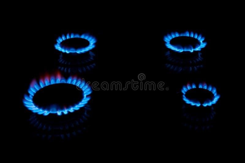 Llamas azules del gas imágenes de archivo libres de regalías