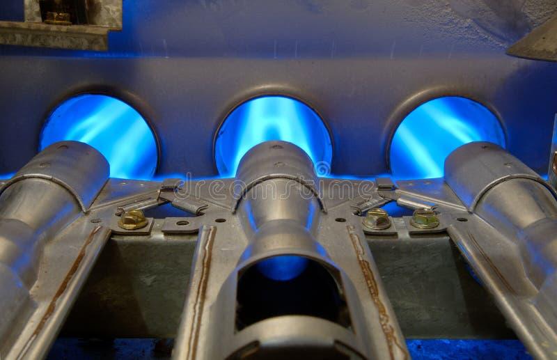 Llamas de la energía del gas imagen de archivo