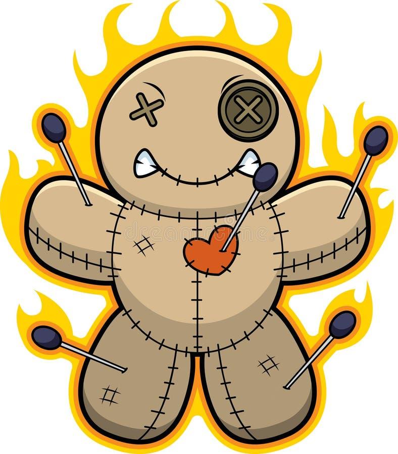 Llamas de la muñeca del vudú de la historieta libre illustration
