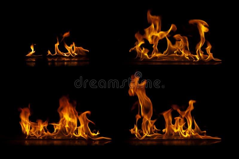 Llamas del fuego imagenes de archivo