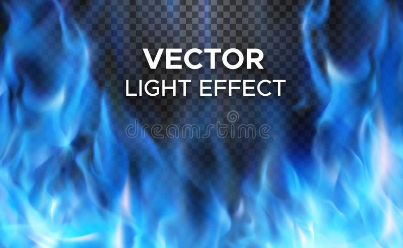 Llamas del fuego del vector en fondo transparente ilustración del vector