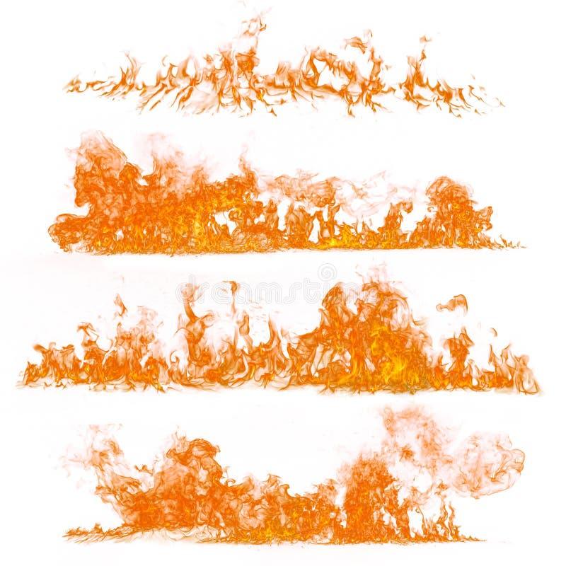 Llamas del fuego en el fondo blanco imágenes de archivo libres de regalías