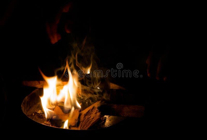 Llamas del invierno imagenes de archivo