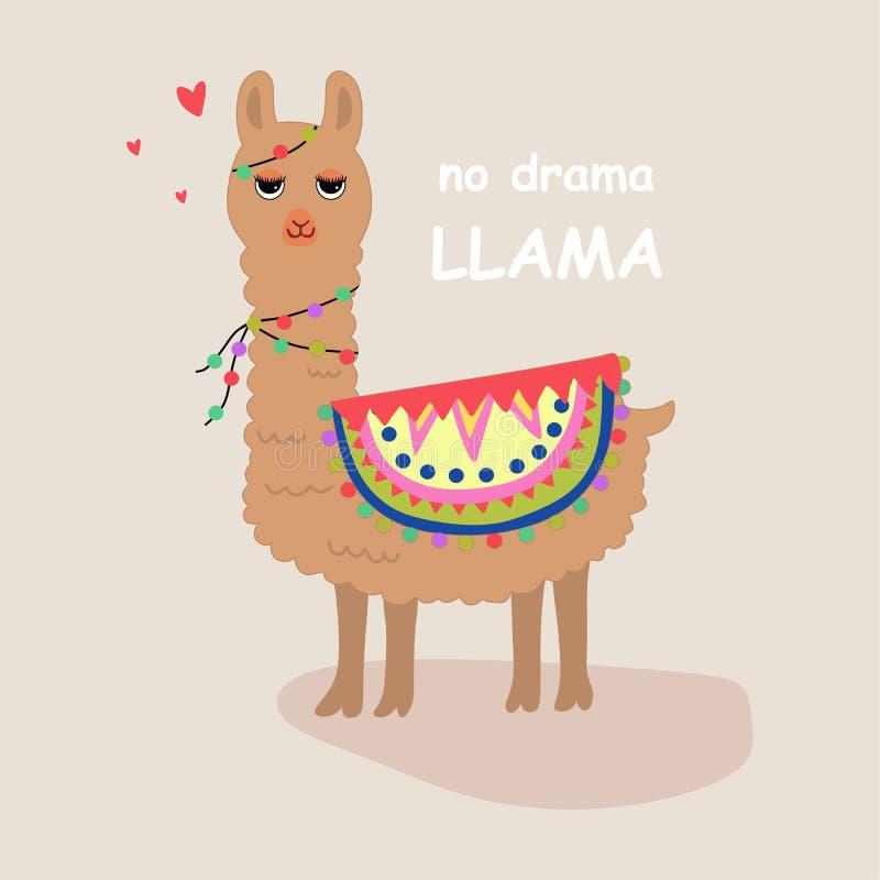 Llamas lindas y hermosas con amor stock de ilustración