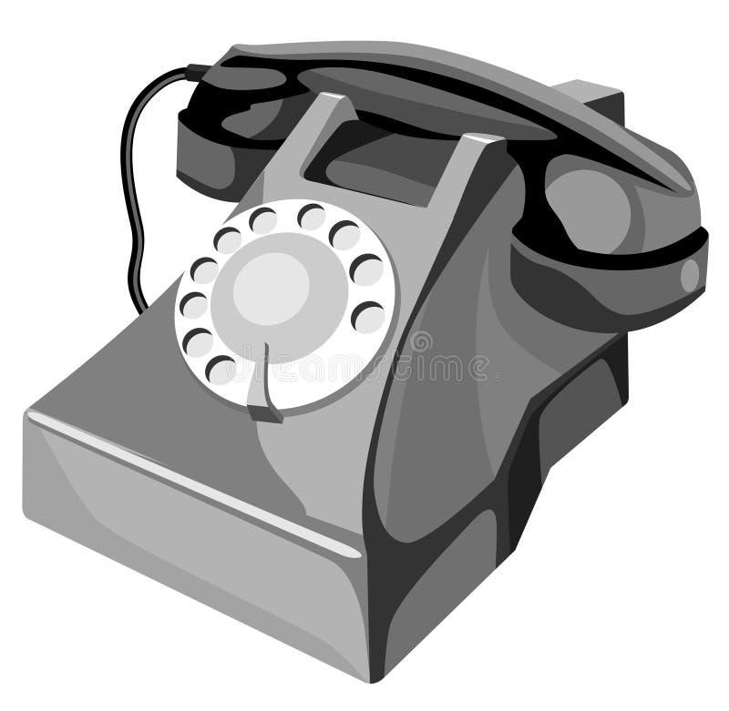 Llame por teléfono al estilo retro stock de ilustración