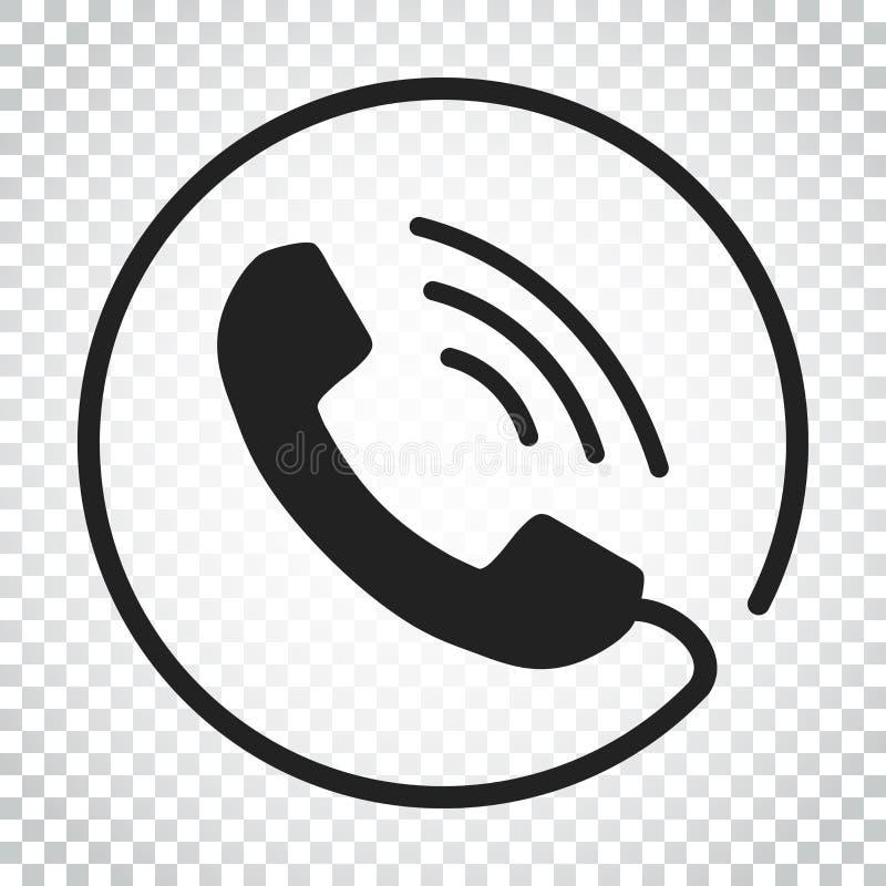 Llame por teléfono al vector del icono, contacto, muestra del servicio de asistencia en el CCB aislado ilustración del vector