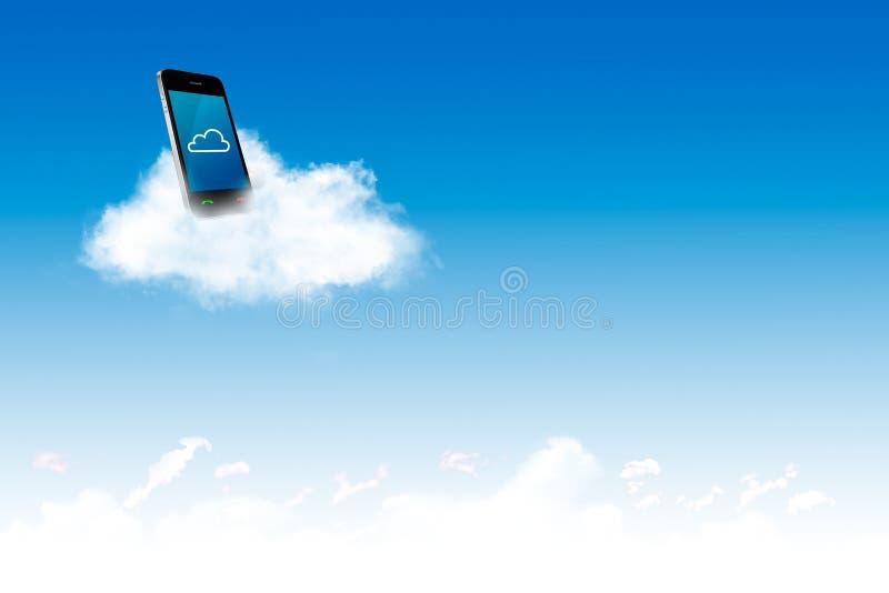 Llame por teléfono en la nube, para el concepto de la nube y el negocio computacionales imágenes de archivo libres de regalías